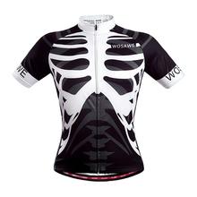 WOSAWE Mens Cycling Bicycle Jersey Mountain Road Short Sleeve Shirt Bike Clothing Skeleton