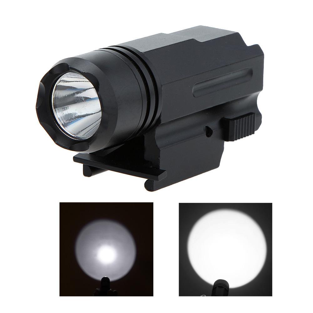 600lm cree led bulb tactical gun rifle shotgun flashlight. Black Bedroom Furniture Sets. Home Design Ideas