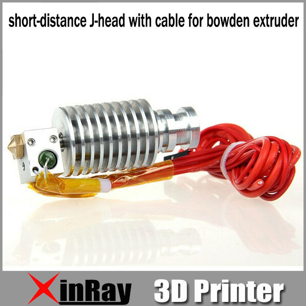 Free Shipping Hot Selling Metal short distance J head with cable for bowden extruder 3d Printer