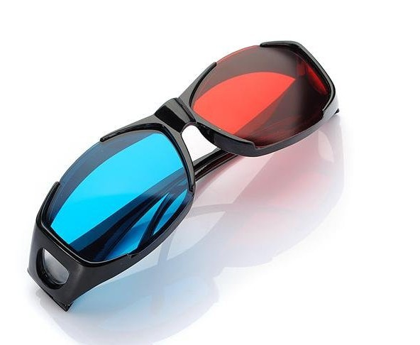 2pcs Universal General Myopia 3D Vision Red Blue Cyan 3D Glasses Plastic Frame for Dimensional Anaglyph Movie Film DVD Game TV(China (Mainland))