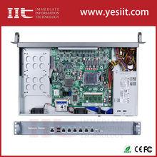 Intel B75 chipset LGA1155 network security with SFP port 1U rackmountable hardware for firewall, VPN, router, etc 6 LAN(China (Mainland))
