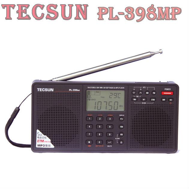TECSUN PL 398MP FM Stereo SW MW LW DSP World Band Radio MP3 Player Black