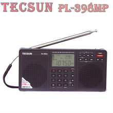 "Tecsun PL-398MP 2.2"" Full Band Digital Tuning Stereo Radio Receiver w/ Stand and MP3 Player – Black"