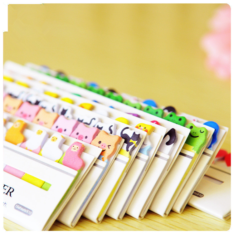 Sticker Scrapbooking Note Notepad Stickers Cute Japan and South Korea personalized stationery cute cartoon series Meng things(China (Mainland))