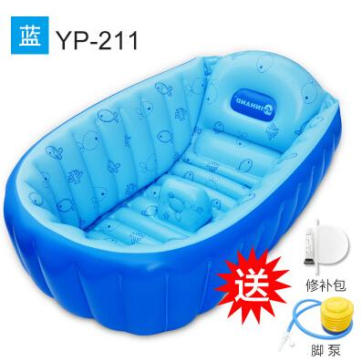 baby inflatable bathtub folding bathtub baby bathtub plus size thickening eco friendly newborn. Black Bedroom Furniture Sets. Home Design Ideas