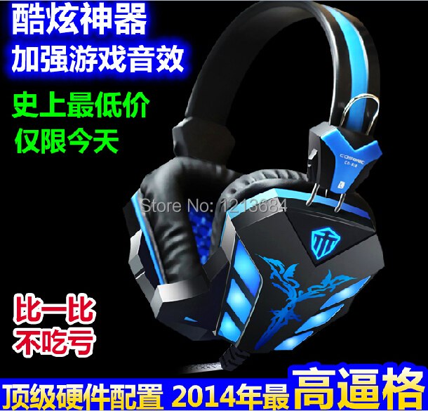 Original Cosonic CD-618 LED Backlit Dynamic Noise Isolating Deep Bass Gaming Computer USB Stereo Headphone Headset For DOTA LOL(China (Mainland))