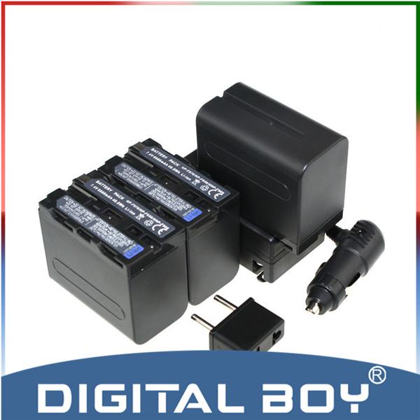 3PCS 6600mAh NP-F970 NP-F960 NPF960 NPF970 battery + Charger For Sony NP-F550 NP F770 F750 F950 F960 F970, for Sony Accessories<br><br>Aliexpress