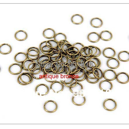 100pcs/bag wholesale antique bronze Tone Jump Rings 7mm jewelry Findings<br><br>Aliexpress