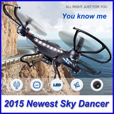 2014 Newest 2.4G RC Helicopter 6-Axis GYRO Quadcopter Drone With LED Camera