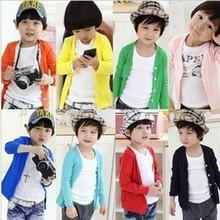 2015 Hot & new Autumn Spring cotton candy-colored cardigan boys girls cardigan children outwear kids baby sweater(China (Mainland))