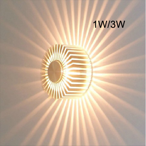 3W Contemporary Led Wall Light with Scattering Light Design UFO Round Palisade Body Sconces modern Decor Fixture stage 85~265V(China (Mainland))