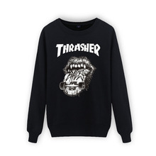 New 2016 thrasher hoodie men sweatshirt mens trasher hoodies and sweatshirts thin felpe sudaderas hombre o-neck hip hop hoodies
