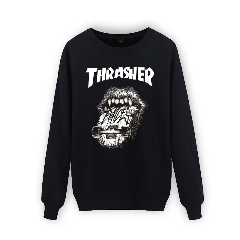 New 2016 thrasher hoodie men sweatshirt mens trasher hoodies and sweatshirts thin felpe sudaderas hombre o-neck hip hop hoodies(China (Mainland))