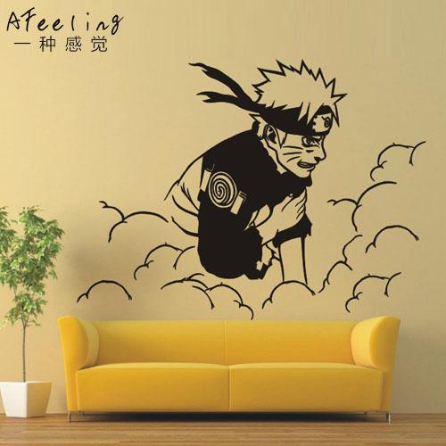 Achetez en gros naruto stickers muraux en ligne des for Decoration murale naruto