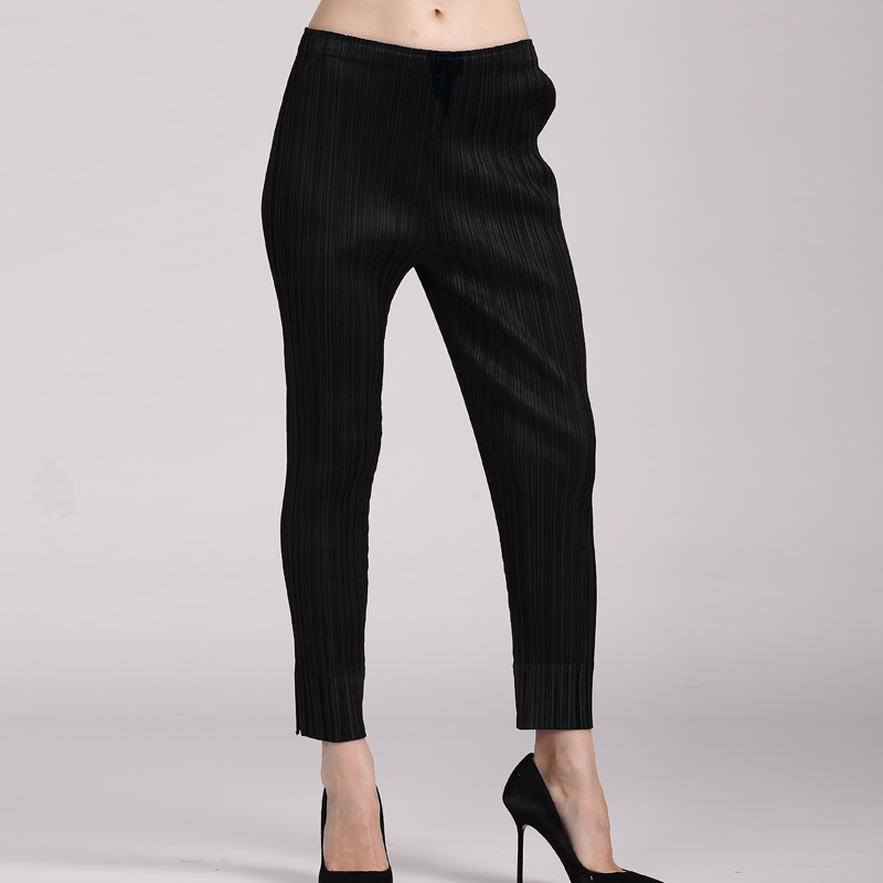 FREE SHIPPING  pleated womens pencil pants autumn high waist slim stovepipe womens ankle length trousers female  HOT SELLINGОдежда и ак�е��уары<br><br><br>Aliexpress