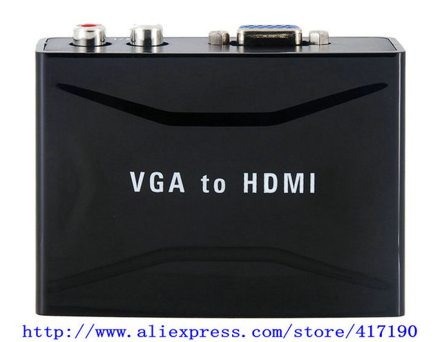 1920 x 1200 VGA TO HDMI Converter With Audio(Black)