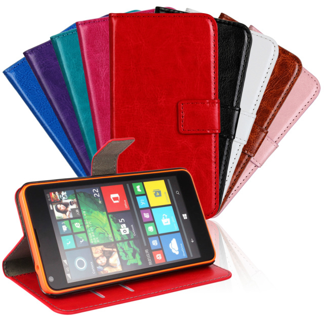 Crazy Horse Pattern for Nokia Lumia 640 Case Stitch Leather Flip Cover for Microsoft Lumia 640(China (Mainland))