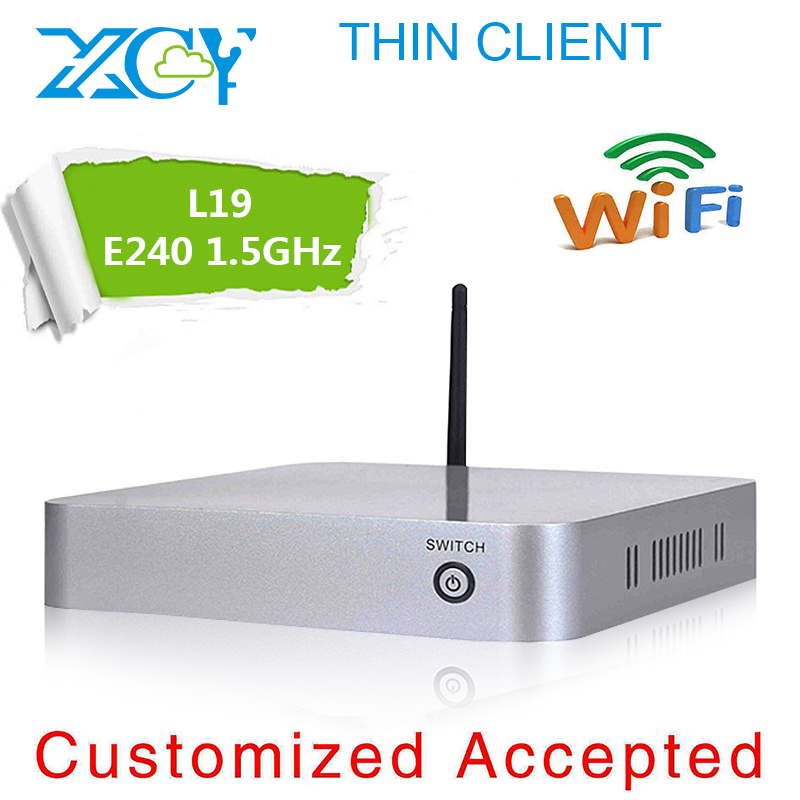 Cheapest!!! Drawing room computer, XCY L-19 office thin client, CPU for E240 single-core with 2g ram 64g ssd with wifi mini pc(China (Mainland))