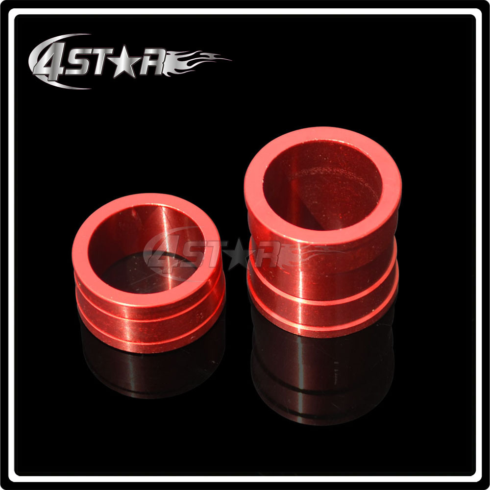 Billet Aluminum Front Wheel Hub Spacers Fit CR125/250R CRF250/XR CRF450R/X Motorcross Dirt Bike Motorcycle Parts Free Shipping(China (Mainland))
