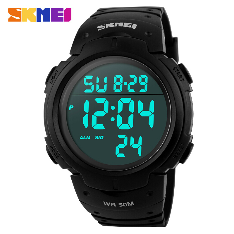 Hot Sale 2015 Sports Watches Men SKMEI Brand LED Electronic Digital Watch 50M Swim Dive Alarm Outdoor Casual Military Army Watch(China (Mainland))