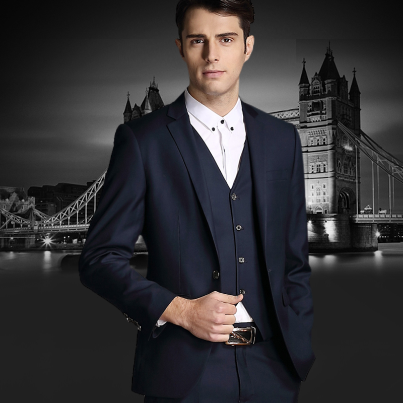In the autumn of 2015 male big business dress codes in the long dress middle-aged three suit suit is smallОдежда и ак�е��уары<br><br><br>Aliexpress