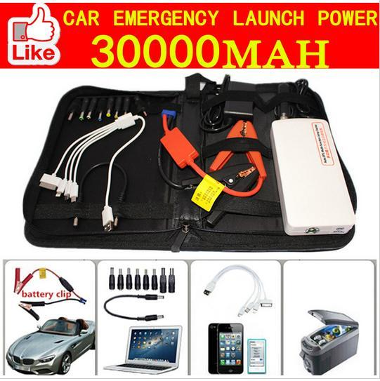 Enhanced 12V Diesel Car Jump Starter 30000mAh High-power Portable Dual-USB Charge Emergency Car Battery Charger kit(China (Mainland))