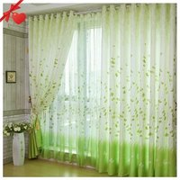 Free Shipping Fashion Curtains Living room &Balcony Pleated Curtain Finished Curtain Rural Style Ready-made Hooks & Eyelet B0032