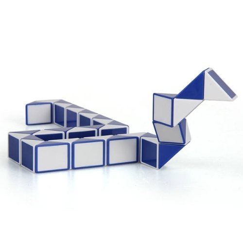 36PCS Blue and White Magic Ruler Cube Twist Snake Folding Puzzle Kids Educational Toy Gift(China (Mainland))