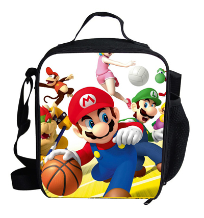 Fashion Cute Cartoon Bag Super Mario Cooler Lunch Bag For Kids Boys Girls Personalized Insulated Lunch Bag For Children Students(China (Mainland))