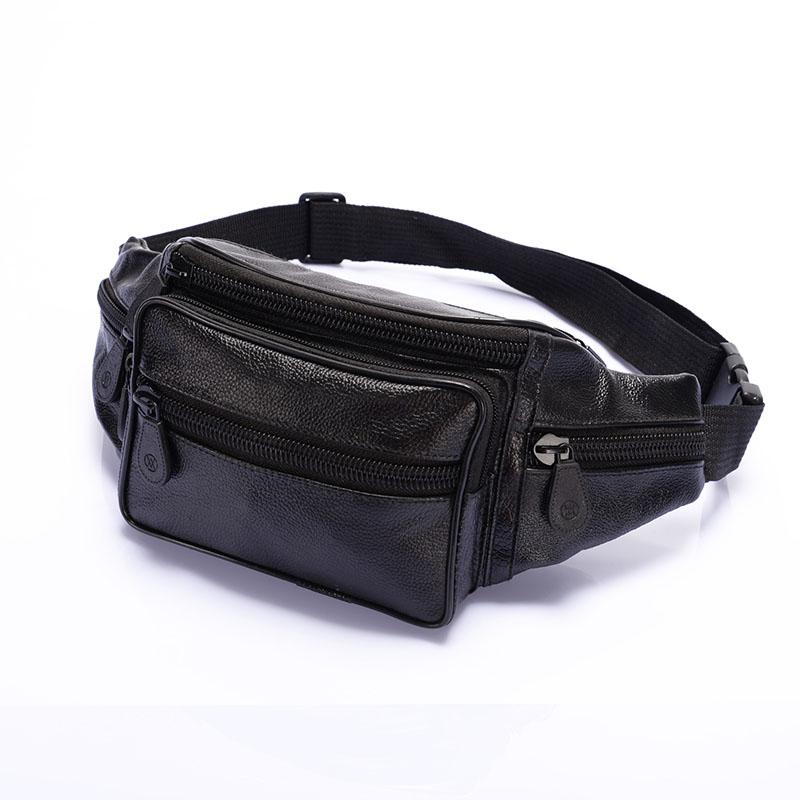 Men Oil Wax Travel Riding Motorcylce Hip Bum Belt Pouch Waist Purse Clutch Bag Travel Portable Bags bolsas couro pack(China (Mainland))