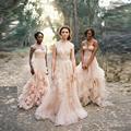 Vintage Lace Boho Wedding Dress robe de mariage Cap Sleeves Lace Wedding Dress 2017 Plus Size