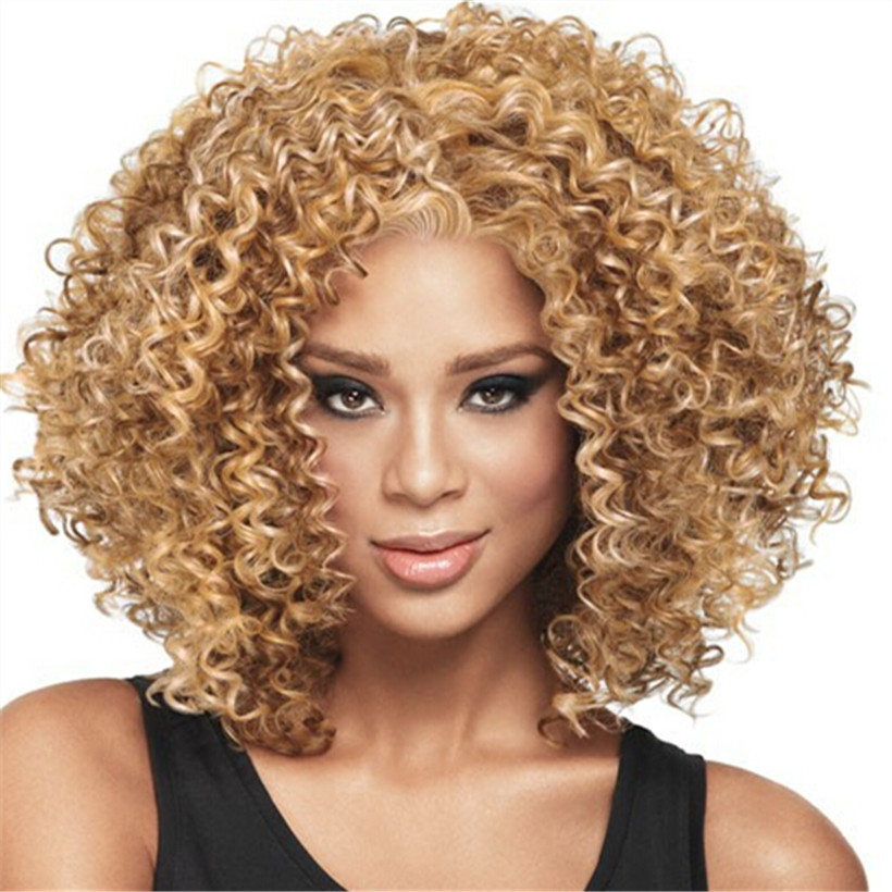 2016 Hot Afro Kinky Curly Wig Short Curly Wigs For African