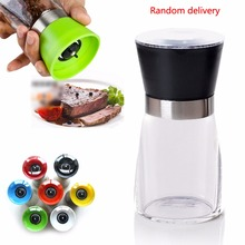 High Quality 1pc Stainless Steel Cooking Tools Spice Salt & Pepper Mill Premium Salt Shaker Spice Herb Pepper Grinder Mill(China (Mainland))