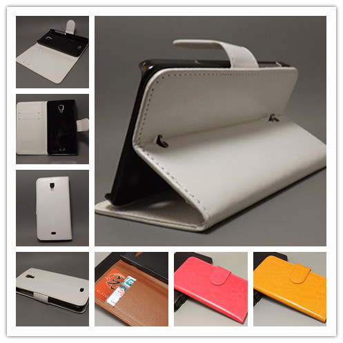 Crazy horse Flip leather case Credit Card Slots and stand function for Explay Vega Free shipping(China (Mainland))