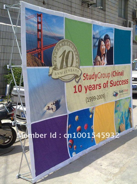 Fabric velcro pop up display with graphic(China (Mainland))