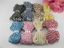 Double colored  cotton baker's twine, cotton cords thread Twine DIY Craft 10m/pack  20050003(1.5-2D10)(China (Mainland))