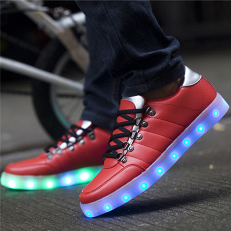 Rio de Janeiro British team Women Led Luminous Shoes Led Shoes Fashion Adult LED Lights Up USB Charging Shoe Chaussure Lumineuse(China (Mainland))
