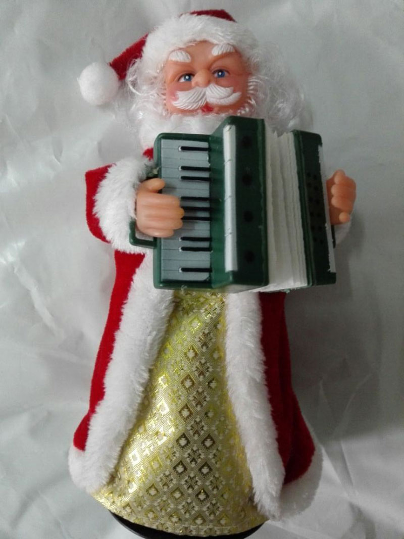 Music Dancing Santa Claus SAX PLAYING New Year Christmas toy for Xmas Party Decorations Gift Christmas Decoration Supplies(China (Mainland))