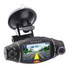 R310 Dual Lens Dash Cam HD Car DVR Video Recorder Car DVRS Camera G-sensor GPS Logger R310 2.7″ TFT LCD Infrared Night Vision