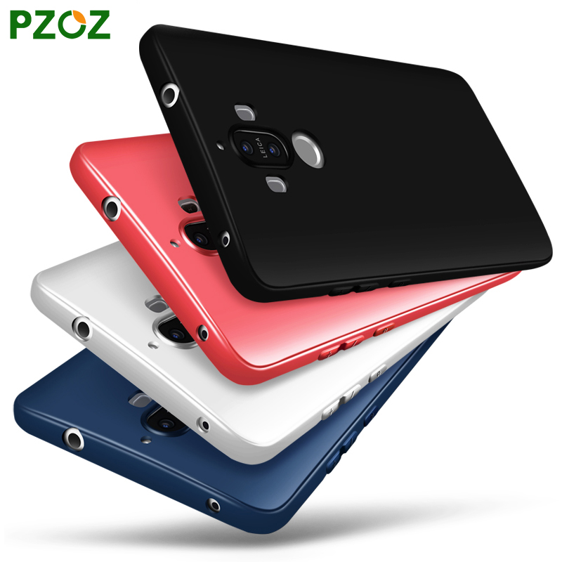 PZOZ Huawei Mate 9 Case Silicone Cover Original Huawei Mate9 Slim Shockproof Phone Protection Soft Shell 5.9 inch