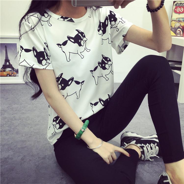 womens tanks dog printed tops fashion veste 2016 shirt femme blusas ropa mujer camisetas poleras de mujer roupas tank top(China (Mainland))