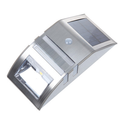 US Stock Solar Power Motion Sensor Super Bright 2 LED PIR Garden Wall Light Lamp IP44 Waterproof(China (Mainland))