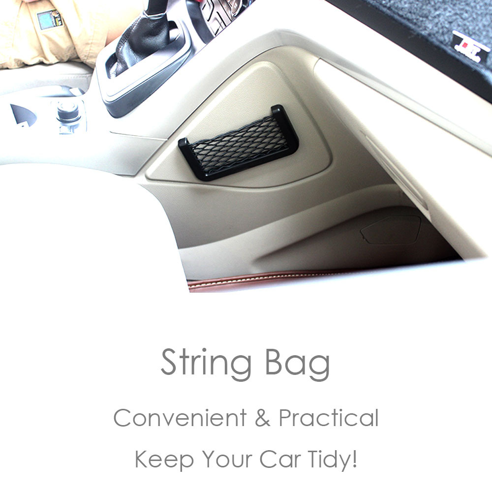 Vehicle Car Auto String Mesh Bag String Bag Storage Pouch for Phone Card Pen Bill Sundries 1Pcs/Lot Retail Package Free Shipping(China (Mainland))