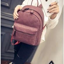 vintage casual nubuck leather medium rucksack hotsale women clutch famous brand shoulder crossbody bags school student backpack(China (Mainland))