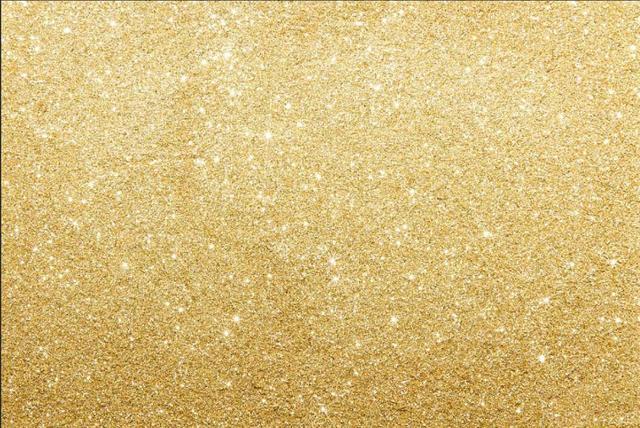 3x5FT Golden Glitter T...