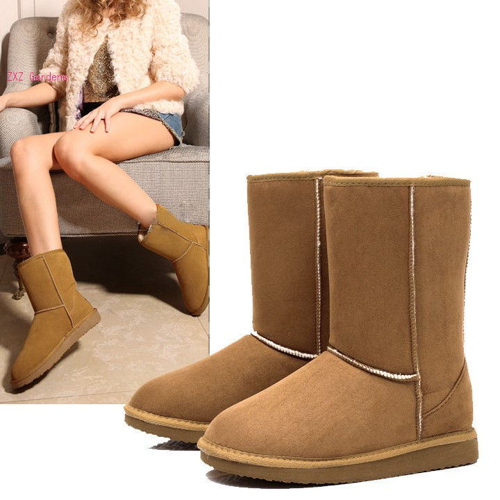 HOT Unisex Winter Warm Snow Half Boots Shoes 6 Colors - ZXZ Crystal Gardens store