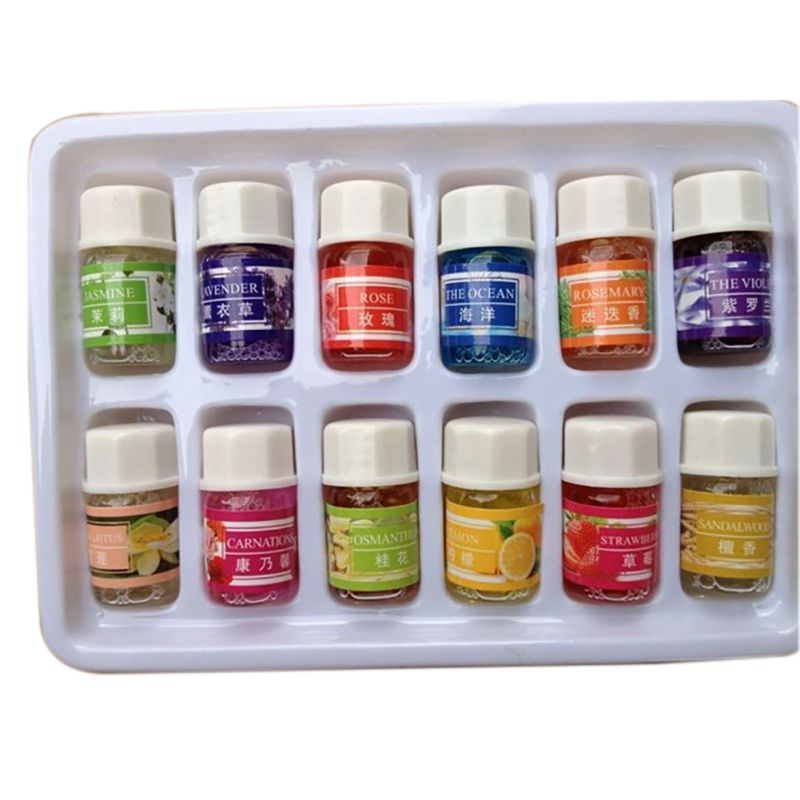 3ML Essential Oils Pack for Aromatherapy Spa Bath Massage Skin Care Lavender Oil With 12 Kinds of Fragrance 5035(China (Mainland))