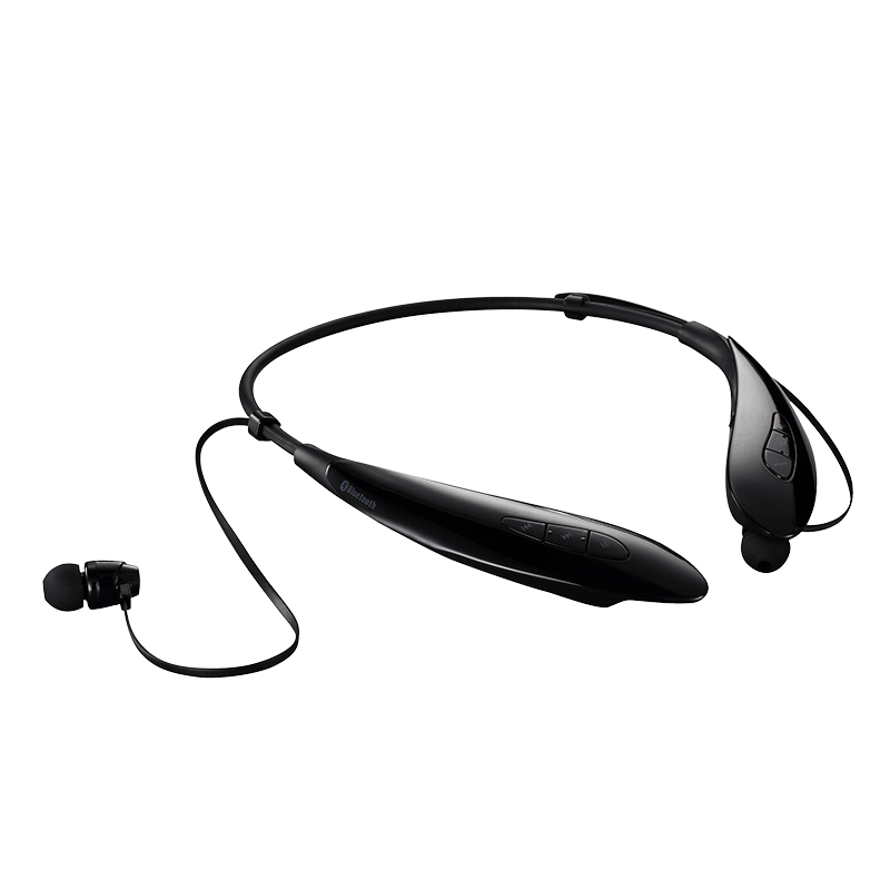 Haoer S840T Bluetooth Neckband Sport In-ear Stereo Earbuds with Mic - black(China (Mainland))