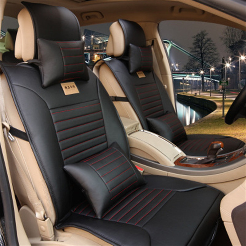 full pu leather universal car cover car seat cover auto interior accessories luxury design. Black Bedroom Furniture Sets. Home Design Ideas