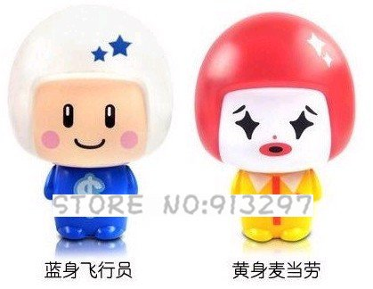 wholesale retail New Cute Mini Cartoon doll Personal Battery Operated Fan Pocket Cooler(China (Mainland))